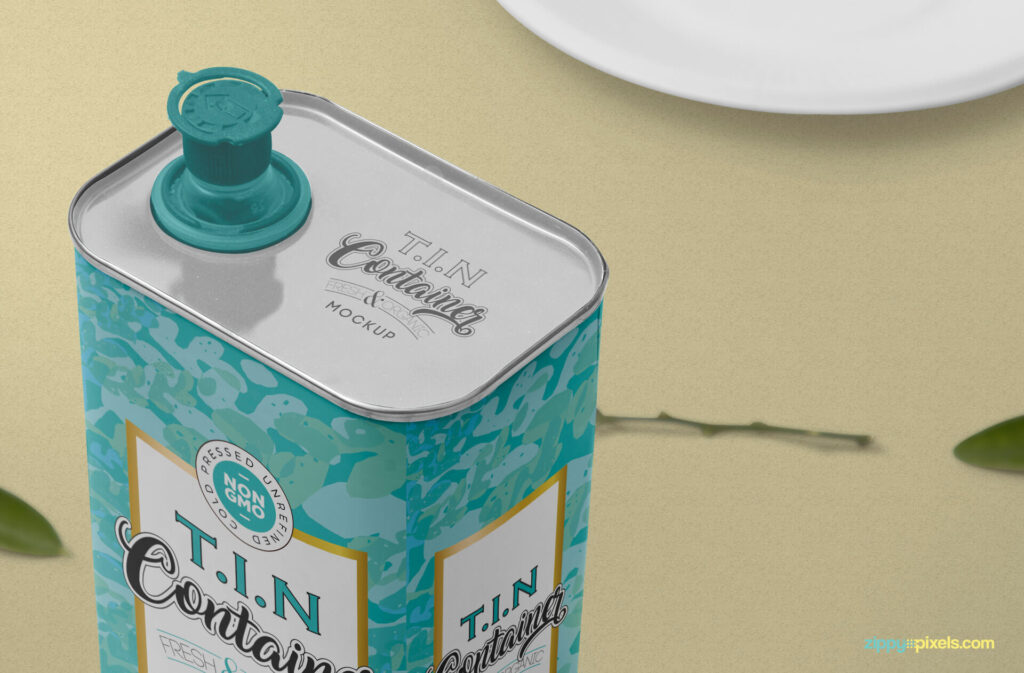 Free Beautiful Tin Can Mockup PSD Template6
