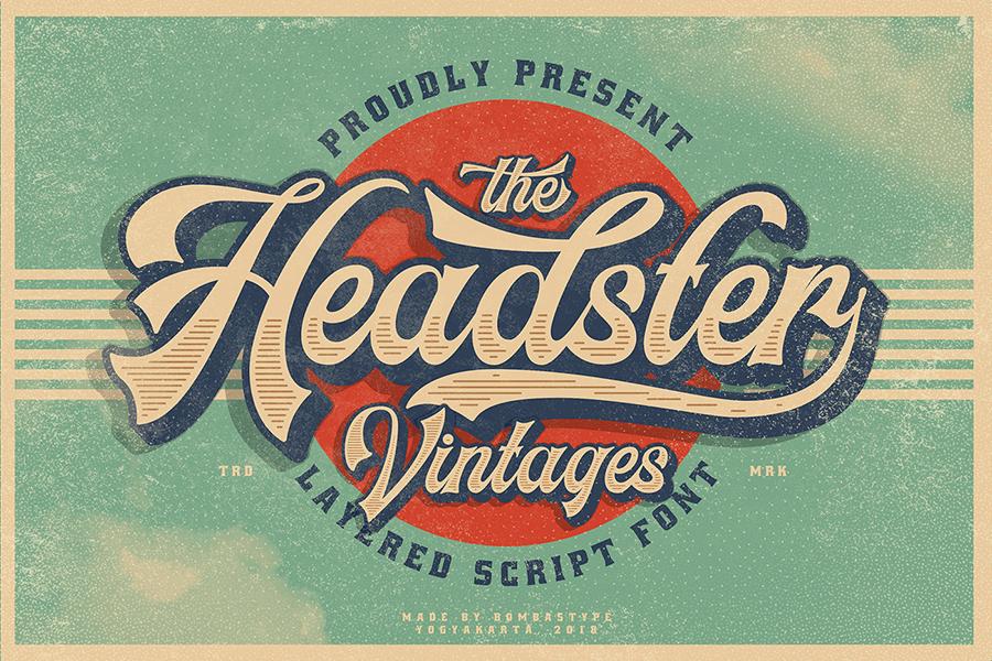 Free Bold Headster Vintage Font Demo