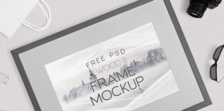 Free Breathtaking Photography Frame Mockup PSD Template