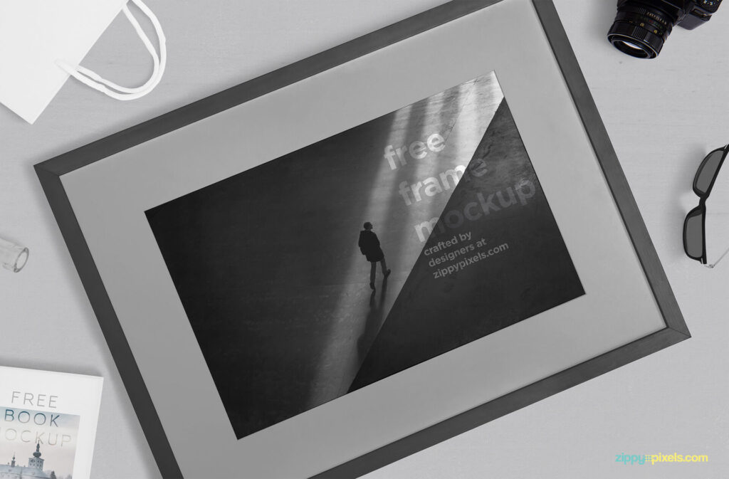 Free Breathtaking Photography Frame Mockup PSD Template2