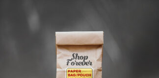 Free Brown Paper Bag Mockup PSD Template