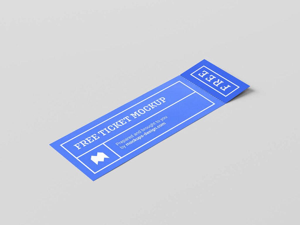 Free Cheap Ticket Mockup PSD Template