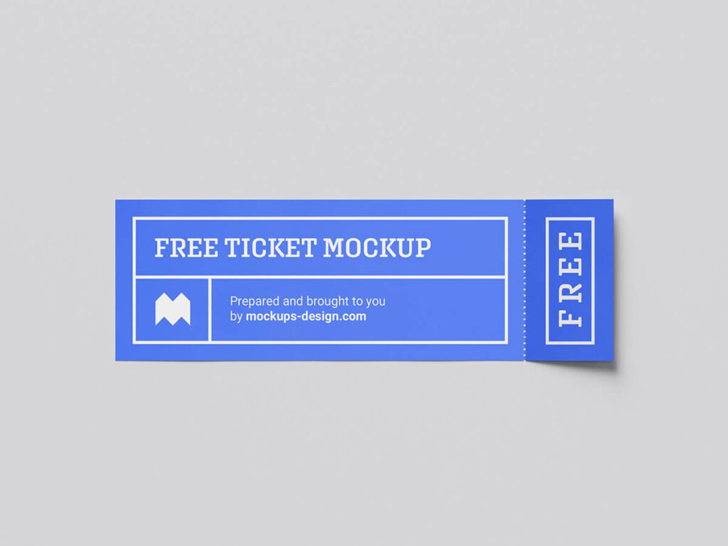 Free Cheap Ticket Mockup PSD Template1