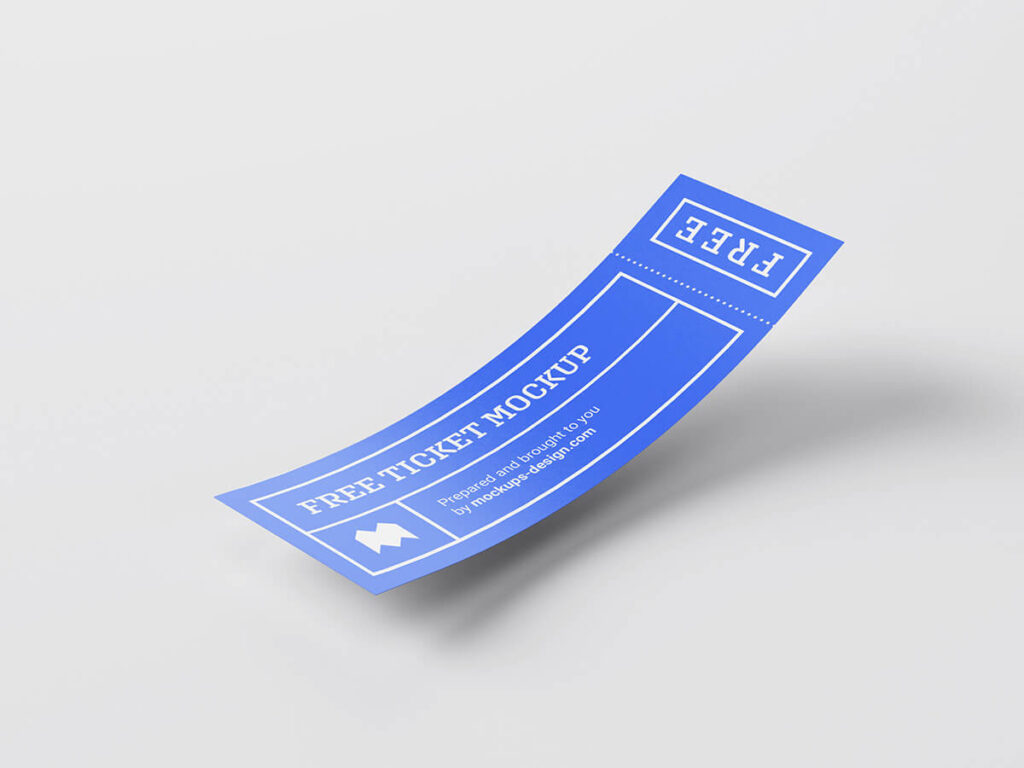 Free Cheap Ticket Mockup PSD Template2