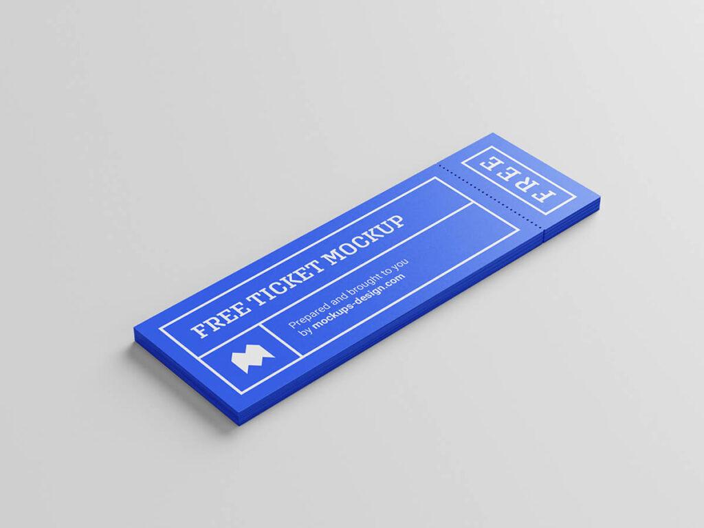 Free Cheap Ticket Mockup PSD Template3