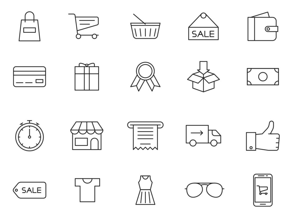 Free Cheerful 20+ Shopping Vector Icons