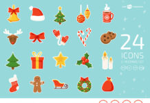 Free Christmas Icons Vector Set