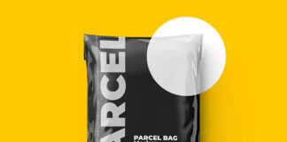 Free Colorful Shipping Bag Mockup PSD Template