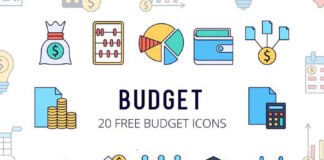 Free Constricted Budget Vector Icon Pack