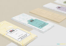 Free Cool Chocolate Bar Mockup PSD Template