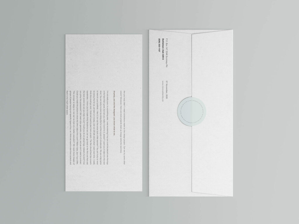 Free Corporate Envelope and Letter Mockup PSD Template