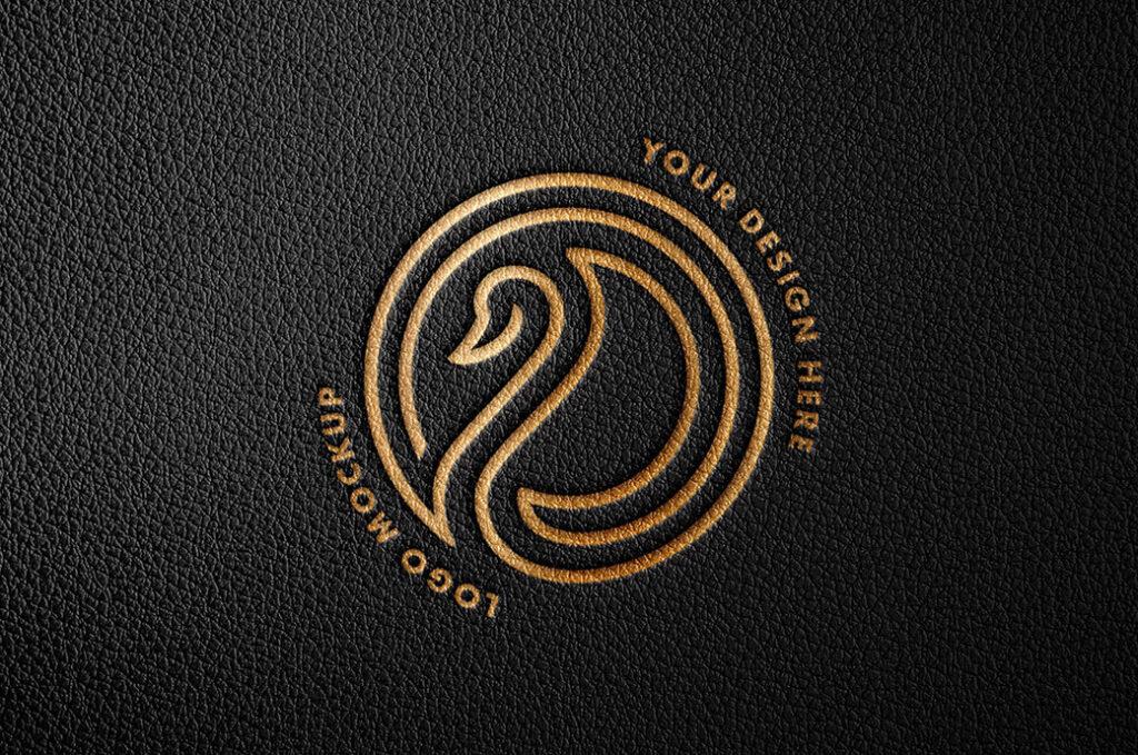 Free Creative Debossed Foil Logo Mockup PSD Template