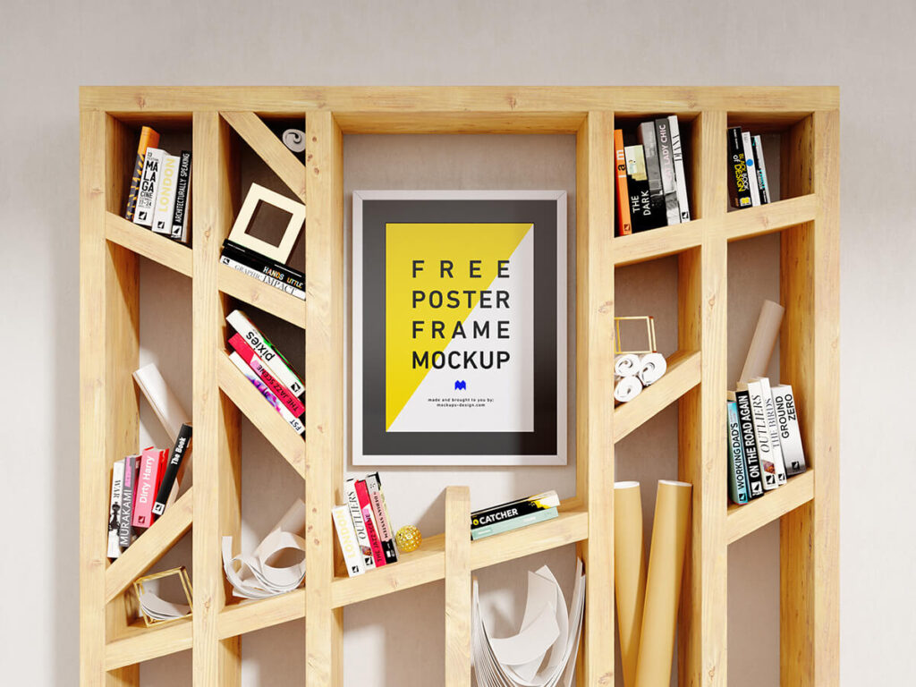 Free Customary Poster Mockup PSD Template
