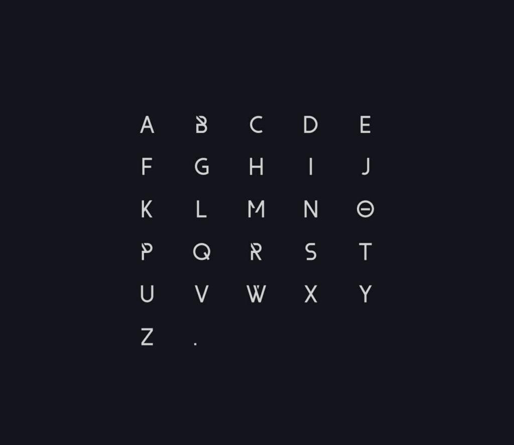 Free Diagonally Cut Form Font1