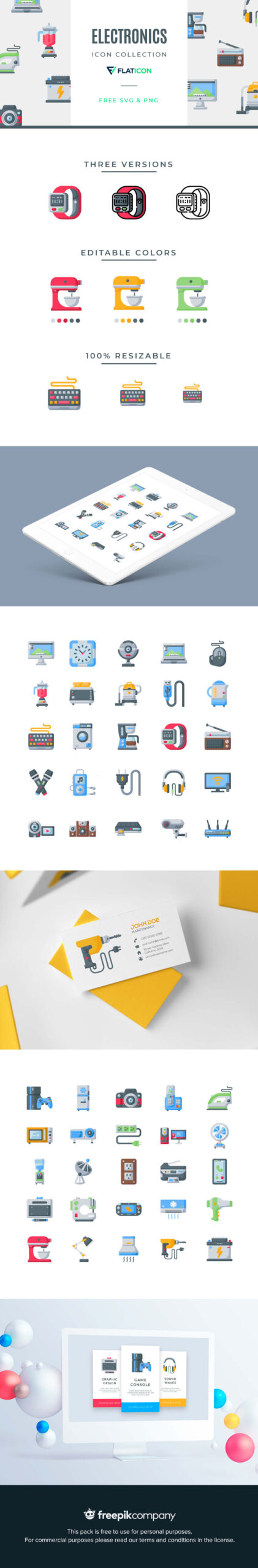 Free Didactic Electronics Vector Icons