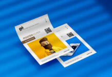 Free Double A4 Flyer Poster Mockup PSD Template