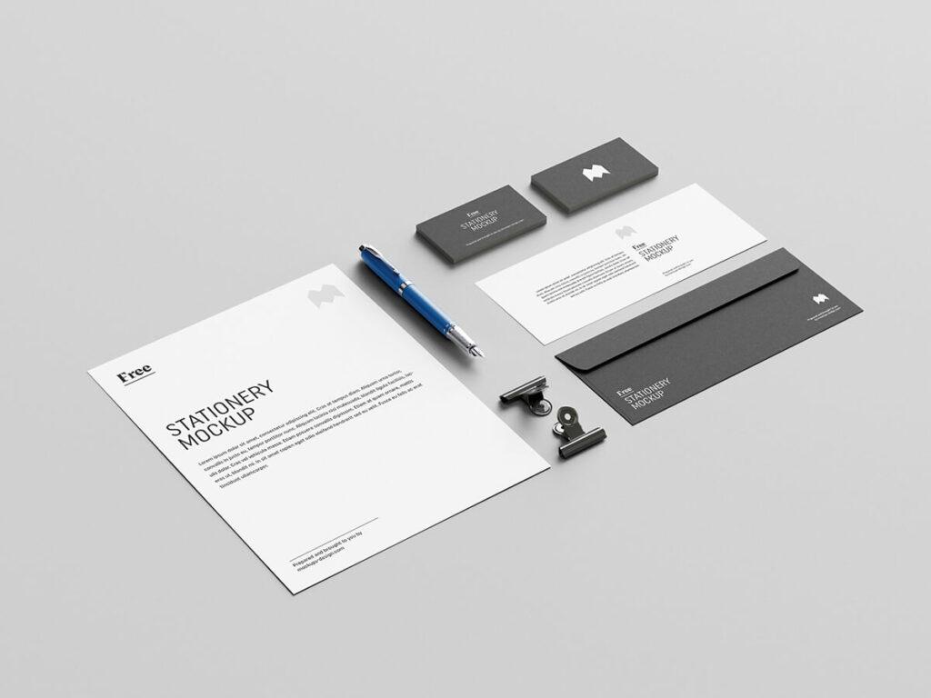 Free Elegant US Stationery Mockup PSD Template