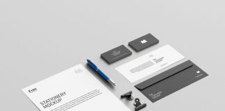 Free Elegant US Stationery Mockup PSD Template