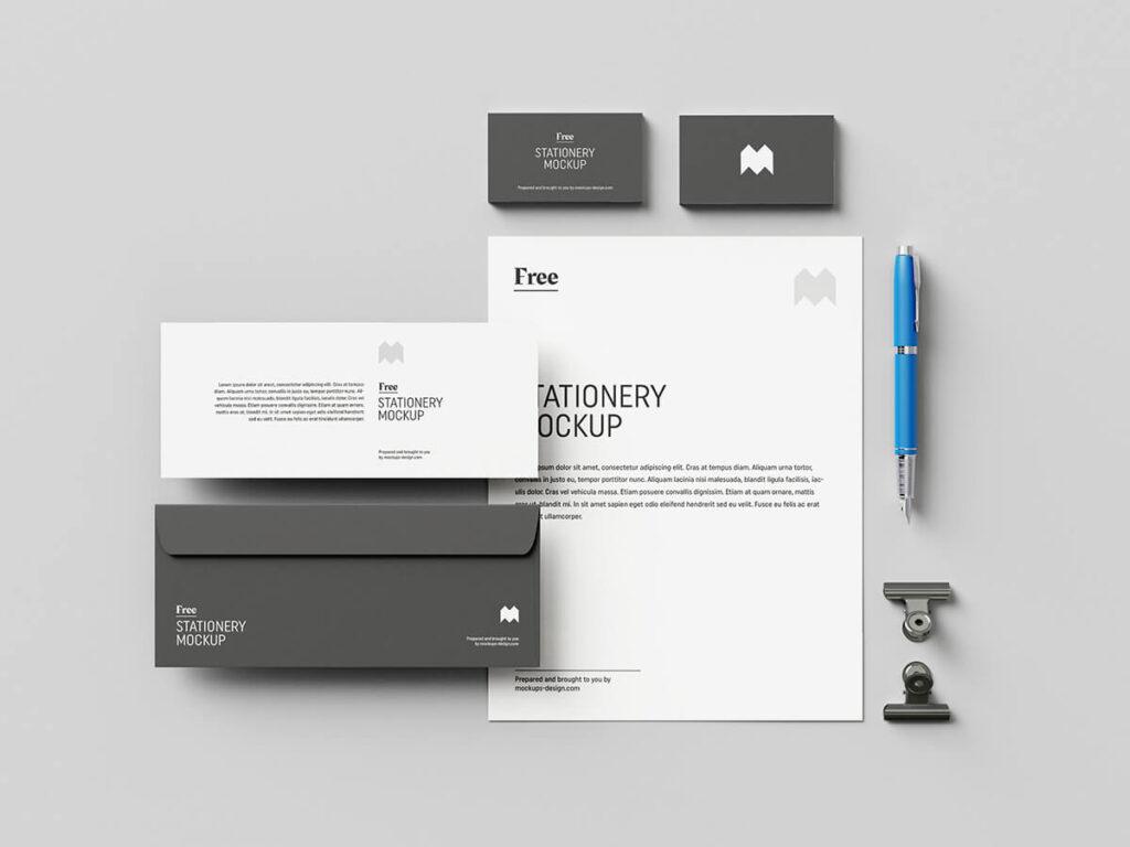 Free Elegant US Stationery Mockup PSD Template3