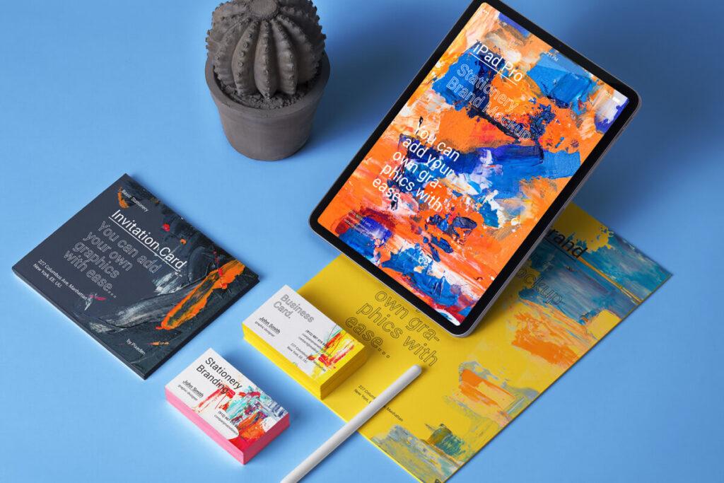 Free Elegant iPad Stationery Branding Mockup PSD Template1