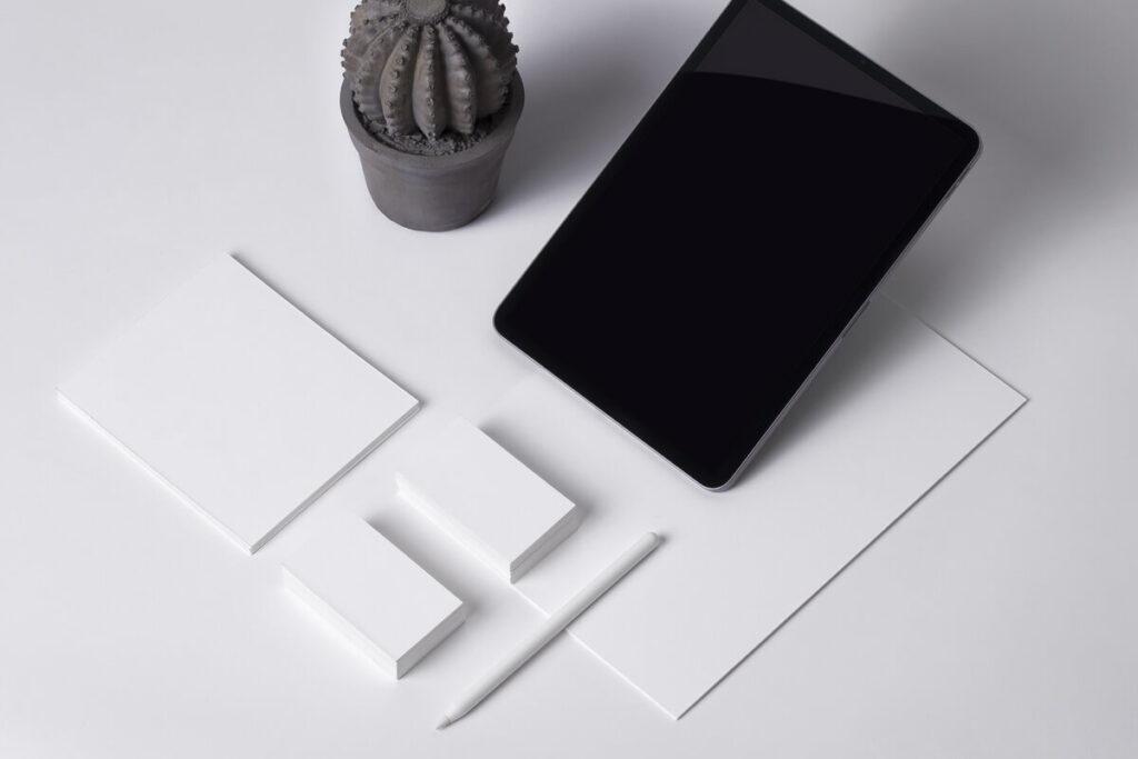 Free Elegant iPad Stationery Branding Mockup PSD Template5