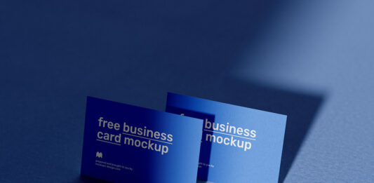 Free Exaggerated Business Cards Mockup PSD Template