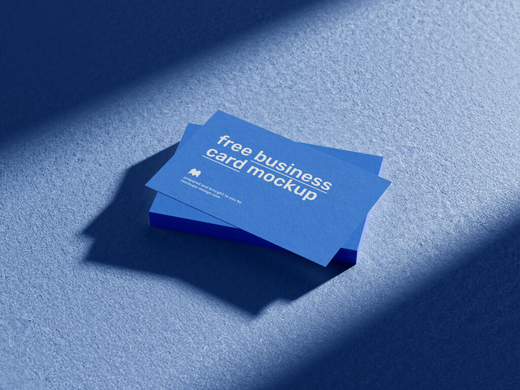 Free Exaggerated Business Cards Mockup PSD Template3