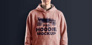 Free Fashionable Hoodie Mockup PSD Template