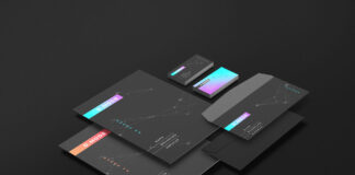 Free Finely Organized Dark Branding Mockup PSD Template