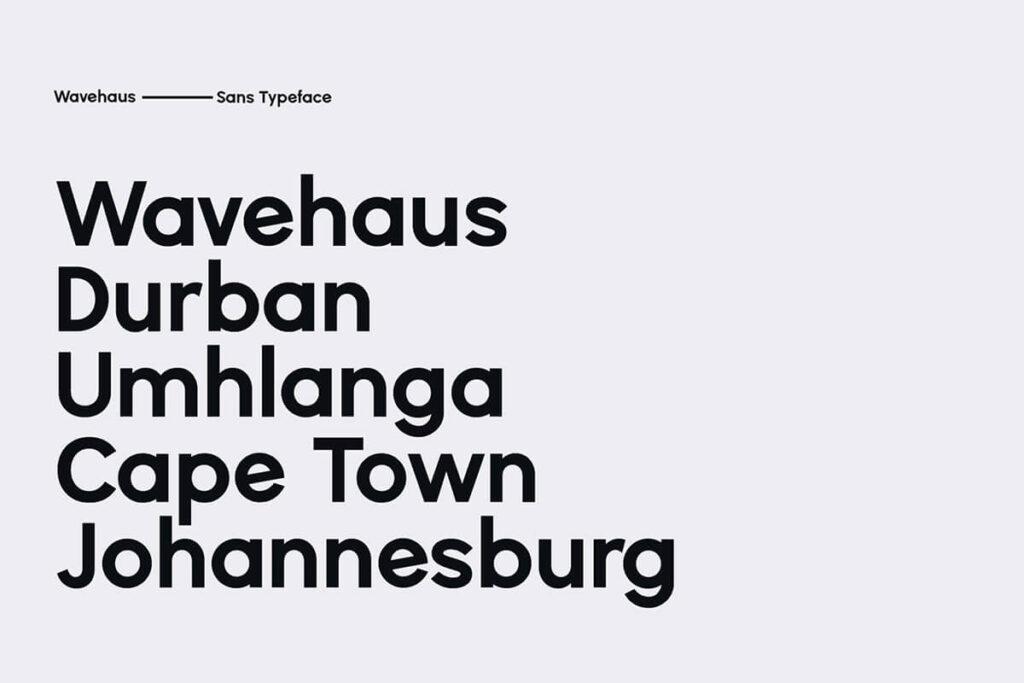 Free Geometric Wavehaus Sans Typeface2
