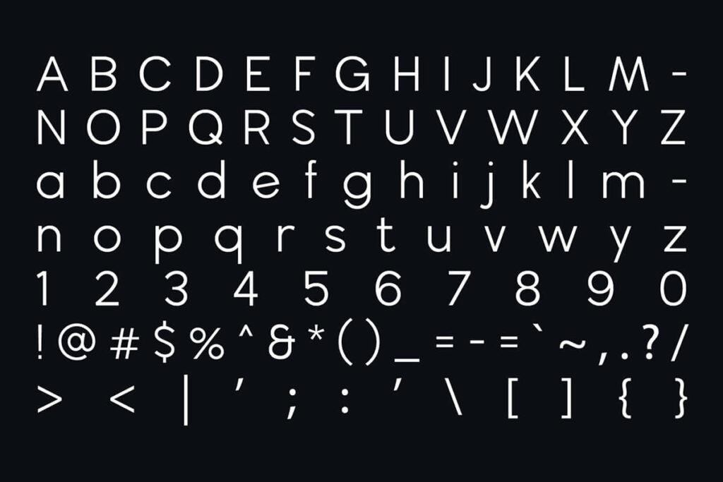 Free Geometric Wavehaus Sans Typeface5