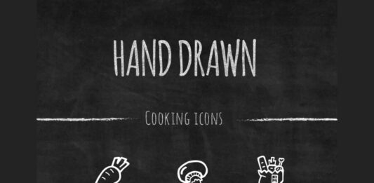 Free Handdrawn Cooking Vector Icons Set