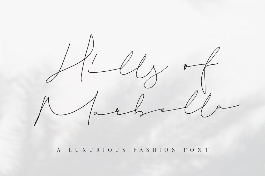 Free Hills Of Marbella Handwritten Script Font