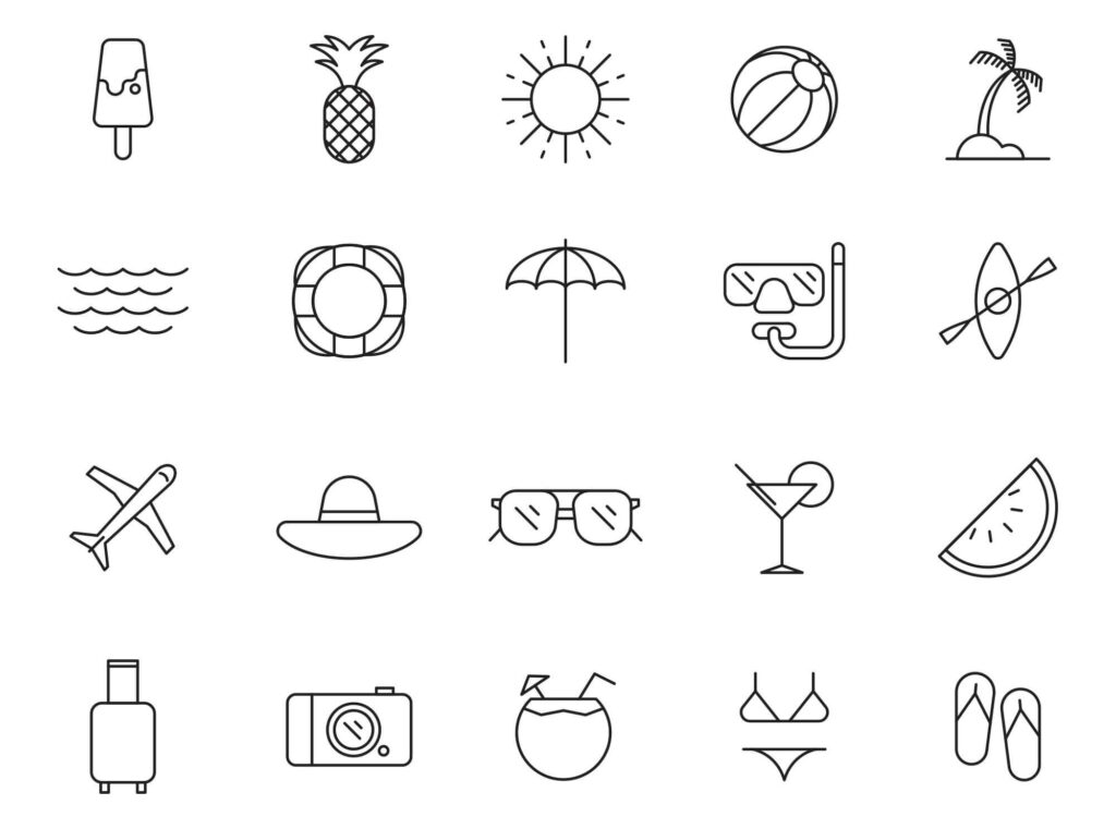 Free Hot 20+ Summer Vector Icons