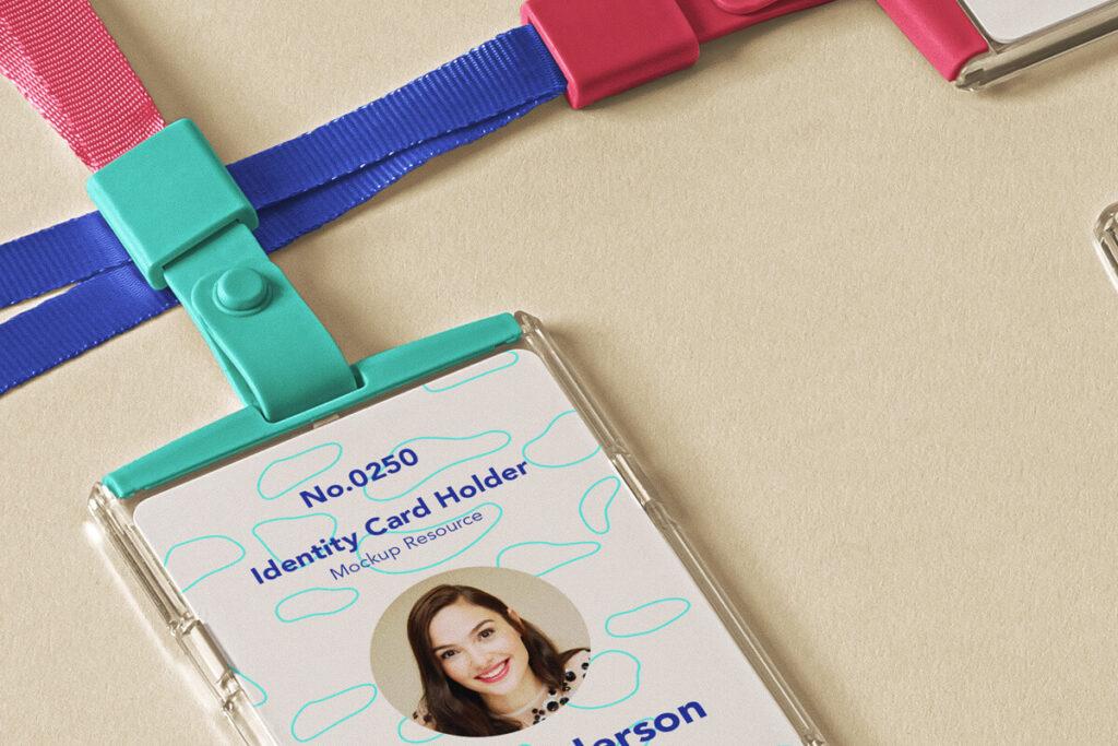 Free ID Card Holder Mockup Scene PSD Template2