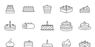 Free Illustrated 20+ Cake Vector Icons
