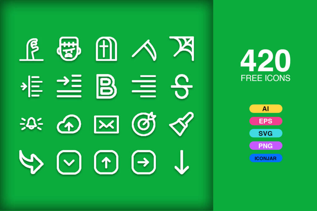 Free Informative And Realistic Vector Icons Pack (1)