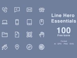 Free Line Hero Essentials Vector Icons