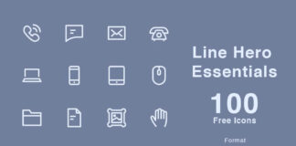 Free Line Hero Essentials Vector Icons