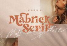 Free Mabrick Font Serif Rough Demo
