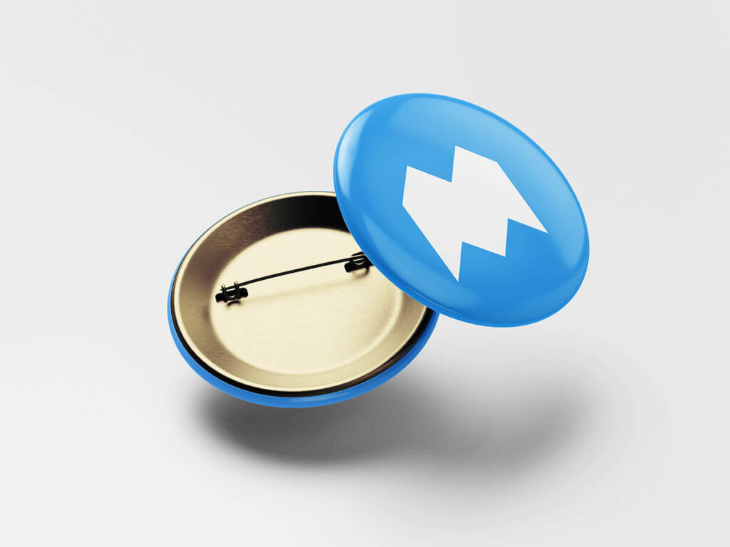 Free Metallic Pin Button Mockup PSD Template2