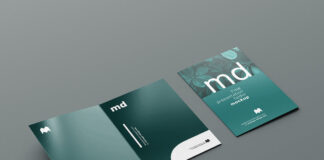 Free Modern Presentation Folder Mockup PSD Template
