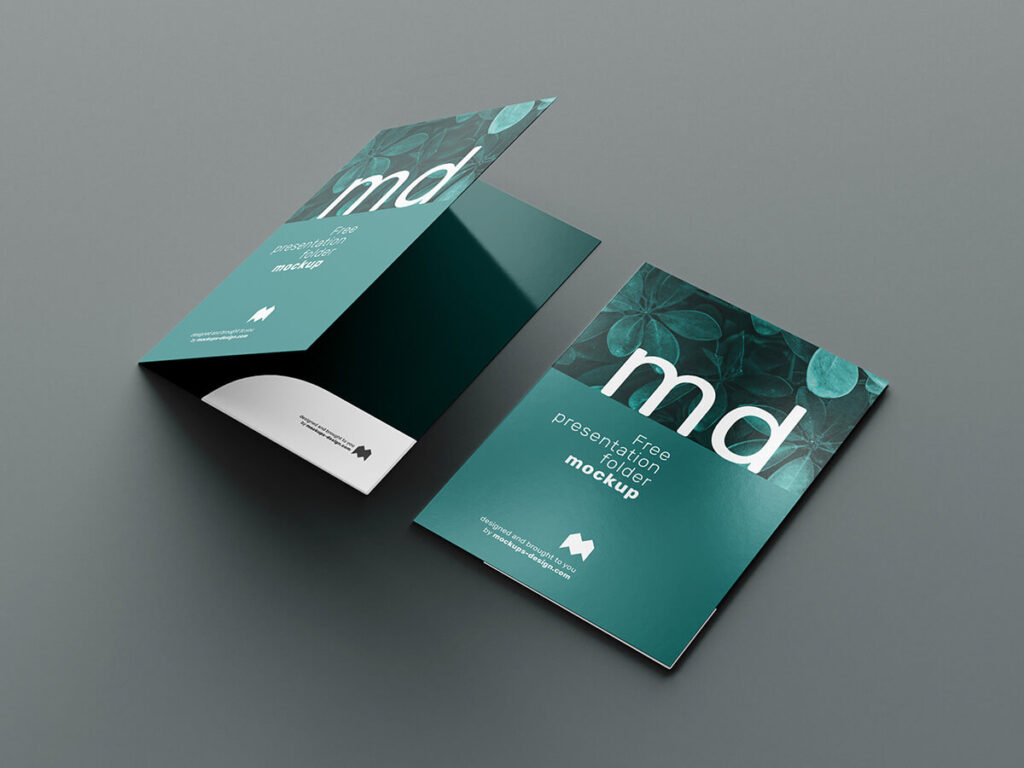 Free Modern Presentation Folder Mockup PSD Template3