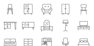 Free Modernist 20+ Furniture Vector Icons