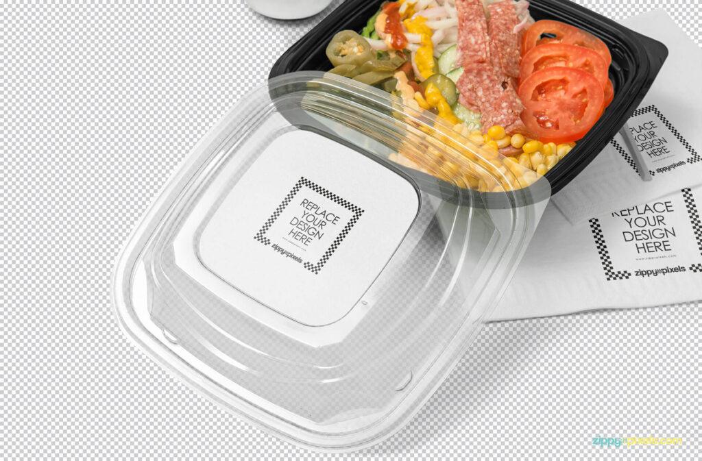Free Oblong Food Box Branding Mockup PSD Template1