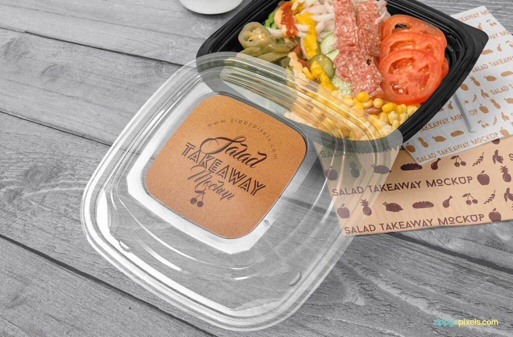 Free Oblong Food Box Branding Mockup PSD Template3