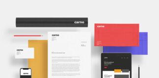 Free One Scene Carno Branding Mockup PSD Template