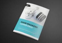 Free Photorealistic Catalogue Magazine Mockup PSD Template