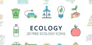 Free Planetary Ecology Vector Icon Set