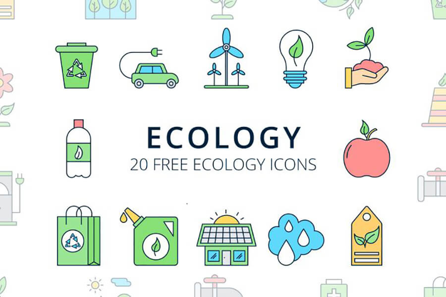 Free Planetary Ecology Vector Icon Set